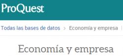 Proquest Economía y Empresa