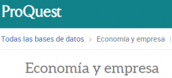Proquest Economia i Empresa