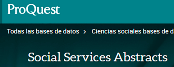 Proquest Social Services Abstracts