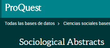 Proquest Sociological Abstracts